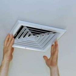 How to clean a bathroom exhaust fan.