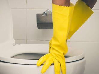 Toilet bowl stains