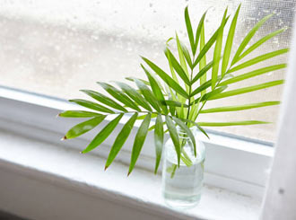 How to clean window sills.
