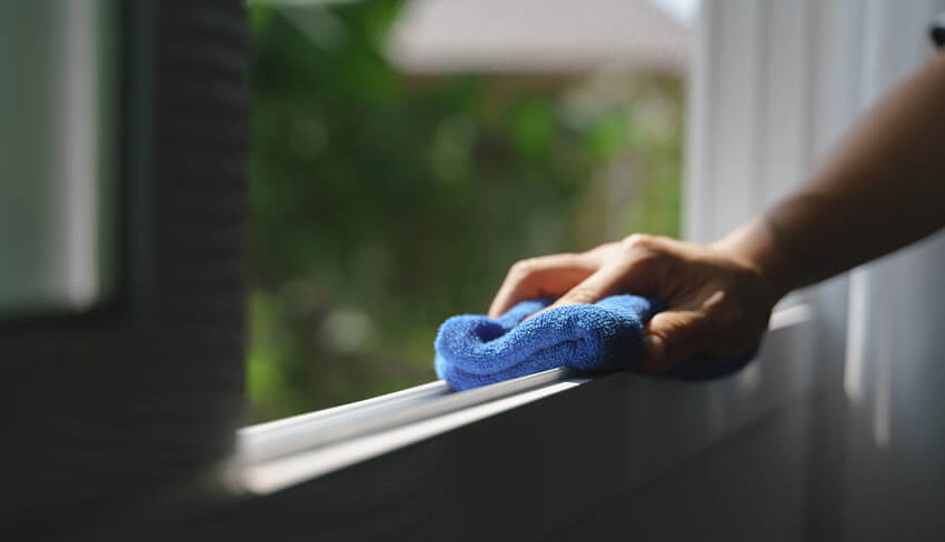 How to clean window tracks.